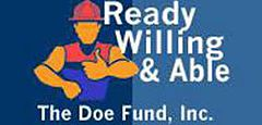 Founded in 1985, The Doe Fund develops and operates innovative programs to provide formerly incarcerated and homeless individuals the opportunities they need to rejoin mainstream society.   Our centerpiece initiative, Ready, Willing & Able, is based on the belief that helping those in need requires providing a hand up, not a hand out. www.doe.org  646-672-4248